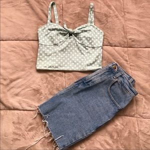 Urban outfitters polka dot crop top!